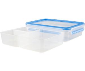 Emsa 508542 Rechteckige Frischhaltedose mit Deckel 2er Pack 1,2 Liter,