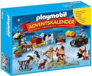 Calendrier L Avent Playmobil.Playmobil Calendrier De L Avent Pere Noel A La Ferme 6624