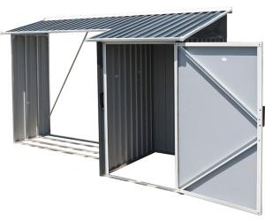 tepro kaminholzregal mit aufbewahrungsschrank ab 285 10 preisvergleich bei. Black Bedroom Furniture Sets. Home Design Ideas