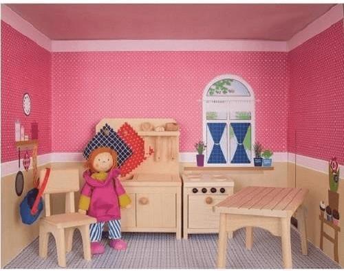 Rülke Puppenhaus im Regal - Küche