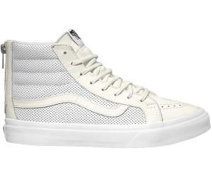 Straßenpreis größter Rabatt gut aussehend Vans Sk8-Hi Slim Zip Perf Leather all white ab 59,90 ...