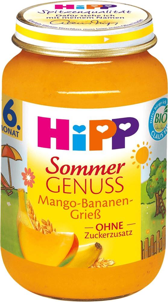 Hipp Sommer Genuss: Mango-Bananen-Grieß (190g)
