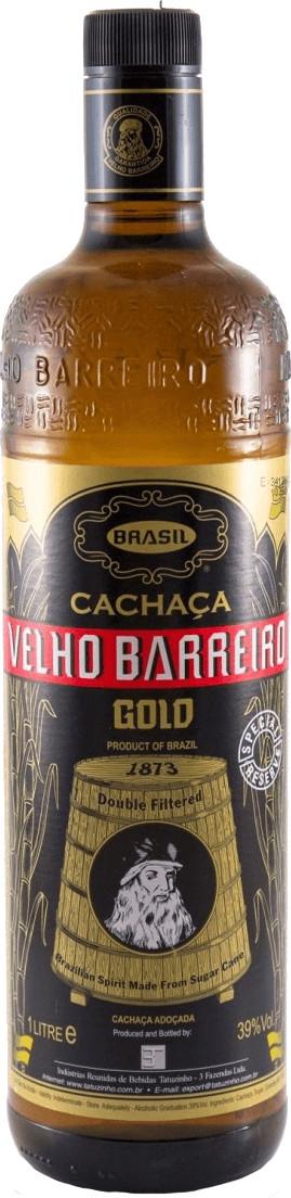 Velho Barreiro Cachaça Gold 1l 39%