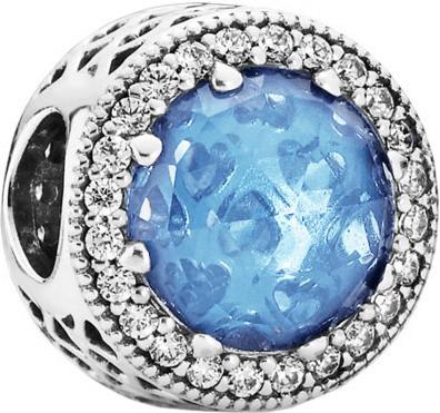 Pandora Himmelblauer Strahlenkranz der Herzen (791725NBS)