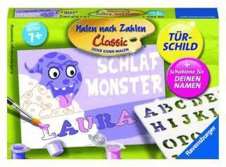 Ravensburger Malen nach Zahlen Türschild Monster