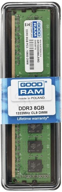 Image of GoodRAM 8GB DDR3-1333 CL9 (GR1333D364L98G)