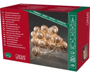 Konstsmide 3156-603 LED Deko Lichterkette 24 bronze Metall Kugeln Bälle warmweiß