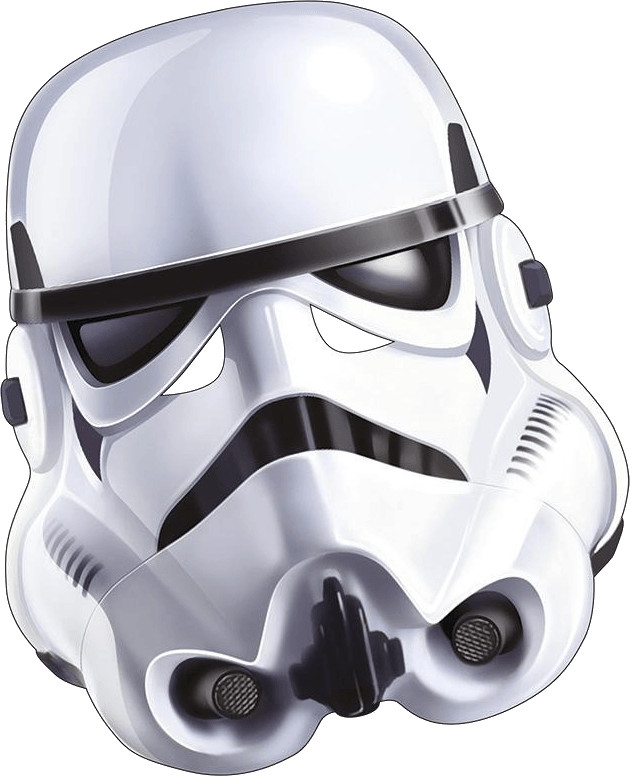 Image of Rubie's Stormtrooper Card Mask (332412)