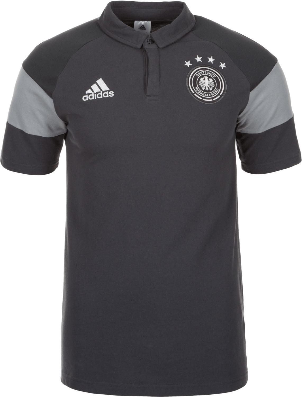 Adidas Deutschland Poloshirt EM 2016 grau/weiß