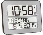 Batterien inklu TFA Dostmann 60.4512 TimeLine Max Funkuhr digitale Wanduhr
