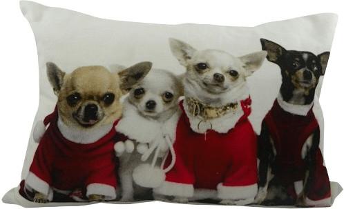 Mars & More Weihnachten-Chihuahuas Kissen