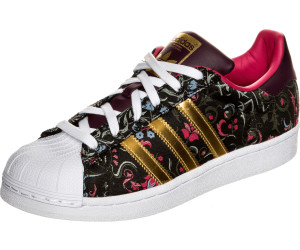 adidas superstar core black/gold metallic/merlot