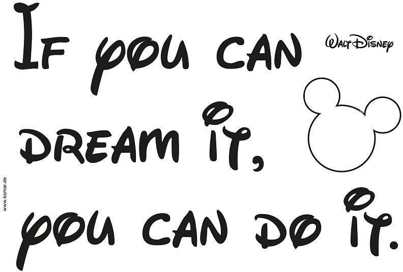 "Komar Wandtattoo Disney ""You can do it"" (14002)"