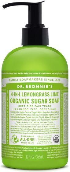 Dr. Bronner's Flüssigseife Zitronengras-Limone (355ml)