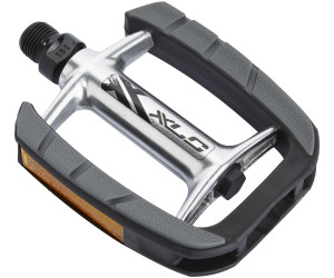 silber//schwarz XLC City-//Comfort-Pedal PD-C08 Alu Gummiauflage