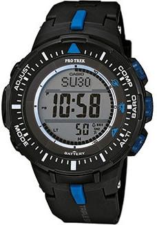 Casio PRO TREK Triple Sensor Versión 3 TOUGH SOLAR Reloj PRG-300-1A2 - Negro + Azul