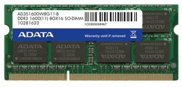 Image of Adata 4GB SO-DIMM DDR3-1600 (ADDS1600W4G11-S)