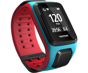 TomTom Runner 2 Cardio + Music - turquoise/rouge - L