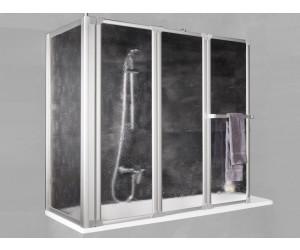 schulte badewannenfaltwand 3 teilig mit seitenwand d1511. Black Bedroom Furniture Sets. Home Design Ideas