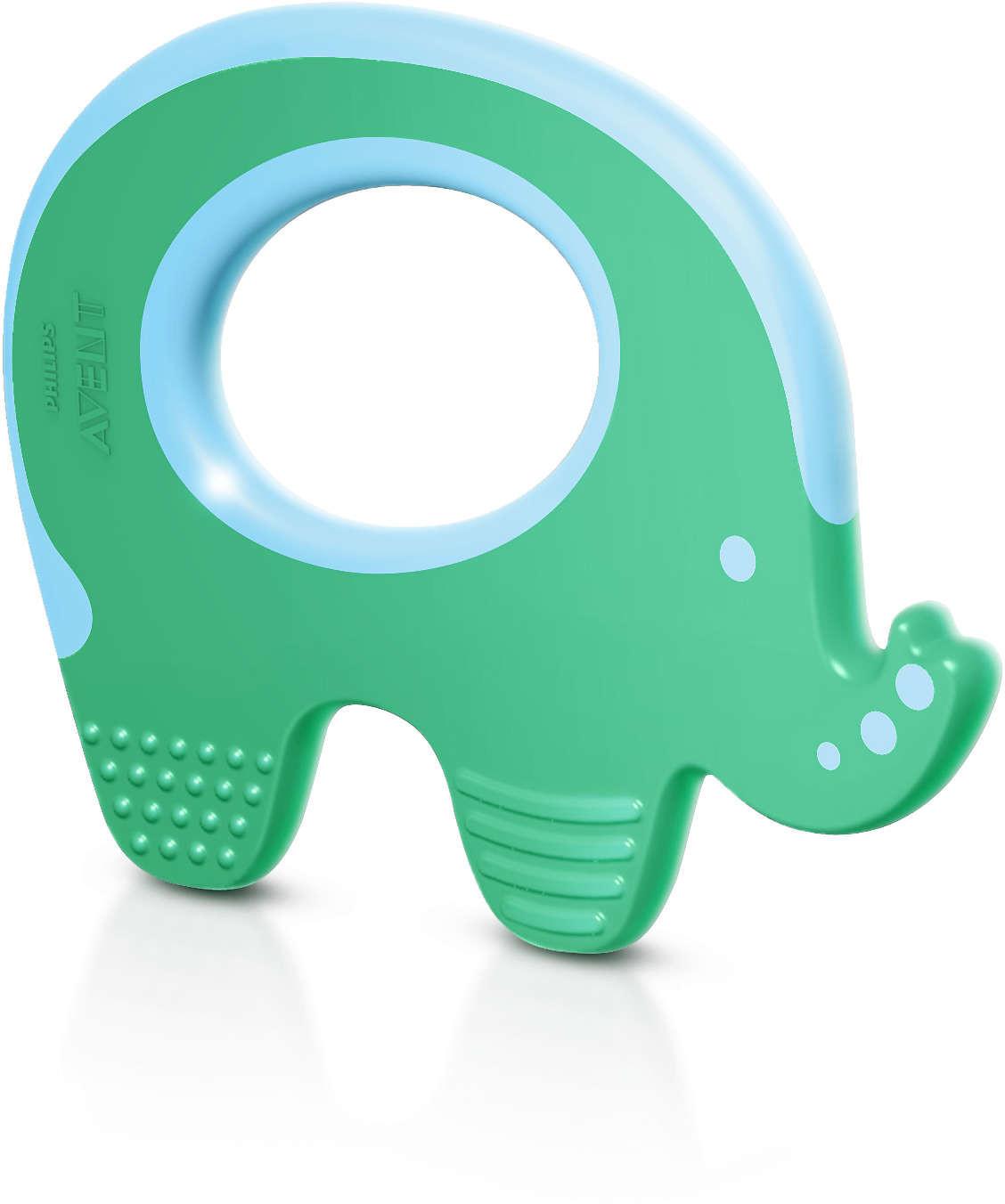 Philips Avent SCF199/00 - Elefante mordedor, color verde