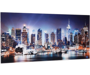 glasbild new york city times square 100x50cm. Black Bedroom Furniture Sets. Home Design Ideas
