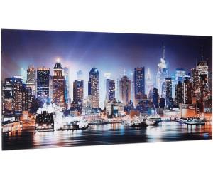 glasbild new york city times square 100x50cm. Black Bedroom Furniture Sets. Home Design Ideas