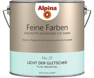 alpina feine farben licht der gletscher 2 5 l ab 29 89. Black Bedroom Furniture Sets. Home Design Ideas