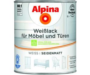 alpina weisslack f r m bel und t ren weiss 750 ml ab 17 19 preisvergleich bei. Black Bedroom Furniture Sets. Home Design Ideas