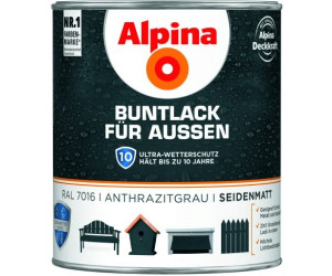 alpina buntlack f r au en 750 ml seidenmatt ab 17 19 preisvergleich bei. Black Bedroom Furniture Sets. Home Design Ideas