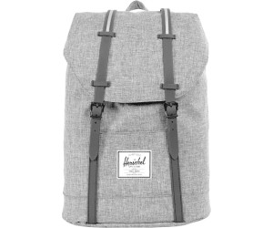 9e1ea592808d Herschel Retreat Backpack raven crosshatch black rubber 3m insert. Herschel  Retreat Backpack