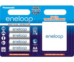 1 Aufbewahrungsbox 4x Panasonic Eneloop PRO AA Mignon Akku HR06 2500mAh