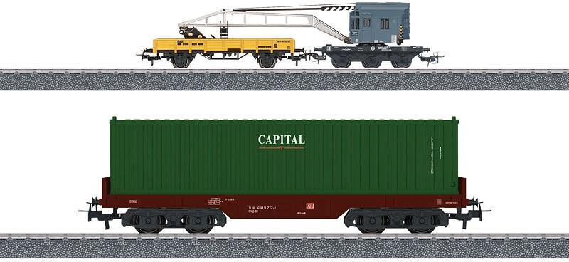 Märklin Start up Wagen-Set Containerverladung (44452)