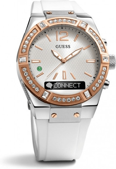 Image of Guess Connect 41mm white & red gold (C0002M2)