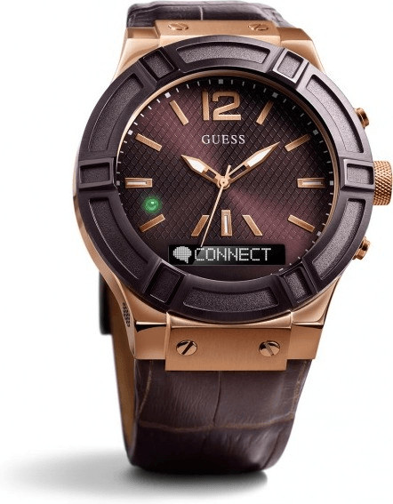 Image of Guess Connect 45mm brown & red gold (C0001G2)