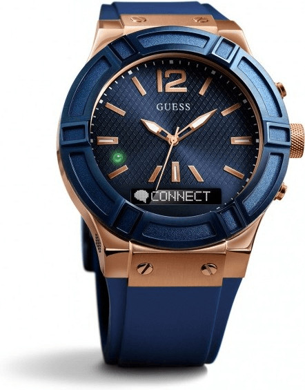 Image of Guess Connect 45mm blue & red gold (C0001G1)