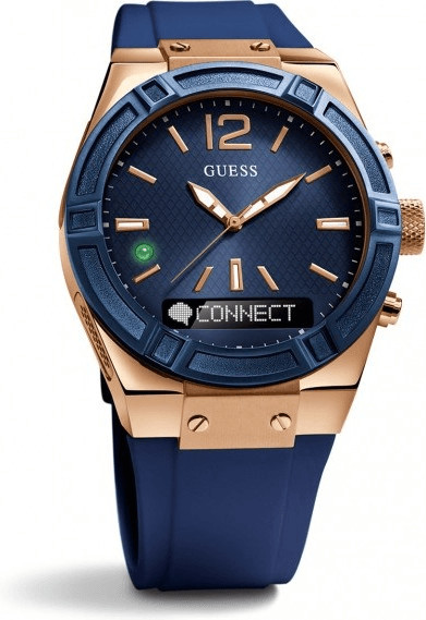 Image of Guess Connect 41mm blue & red gold (C0002M1)