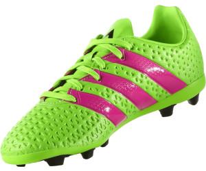 8c9de71900b Buy Adidas Ace 16.4 FxG Jr solar green shock pink core black from ...