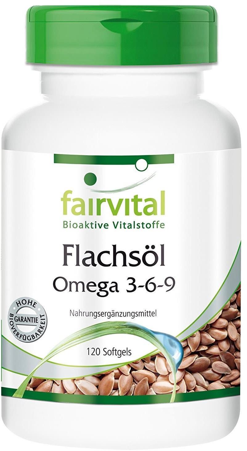 Fairvital Flachsöl Leinöl Omega-3-6-9 Kapseln (120 Stk.)