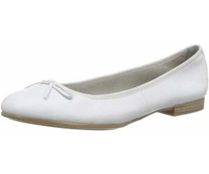 Tamaris Damen 22116 Ballerinas, Weiß (White Leather), 43 EU