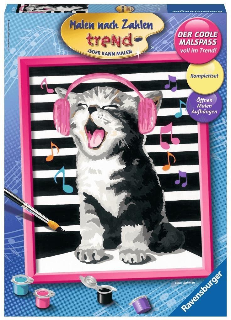 Ravensburger Malen nach Zahlen trend Singing Cat