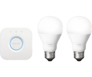 philips hue white kit de d marrage e27 au meilleur prix sur. Black Bedroom Furniture Sets. Home Design Ideas