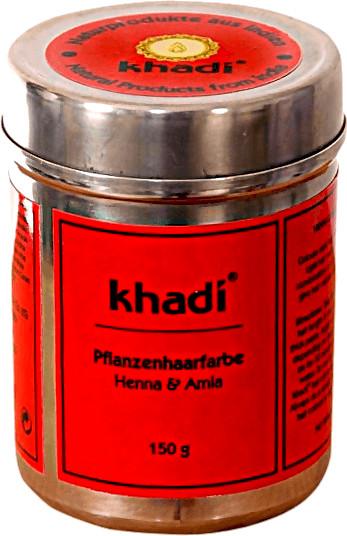 Khadi Pflanzenhaarfarbe Henna und Amla (150g)