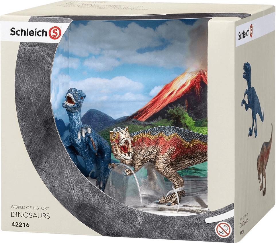Schleich Tyrannosaurus Rex und Velociraptor (42216)