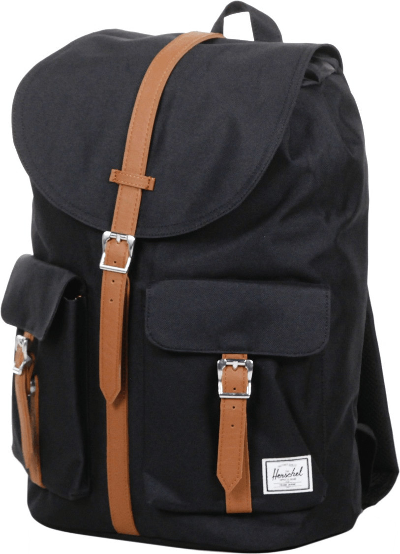 Herschel Dawson Laptop Backpack black/tan synthetic leather (10233)