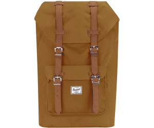 85a463a2b41 Herschel Little America Backpack caramel tan synthetic leather ab ...