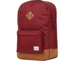 fdd7f0159af Buy Herschel Heritage Backpack windsor wine tan synthetic leather ...
