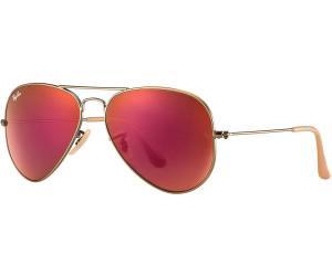 Ray Ban Ray-Ban Sonnenbrille »aviator Large Metal Rb3025«, Braun, 167/2k - Braun/rot