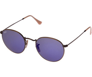 88e8568fdd ... netherlands ray ban round metal rb3447 167 68 bronze blue mirror 89904  badf8