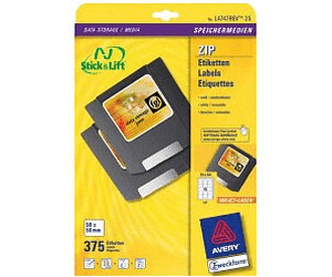 wei/ß AVERY Zweckform L4747REV-25 Etiketten f/ür Disketten A4, 375 St/ück, 59 x 50 mm, 25 Blatt