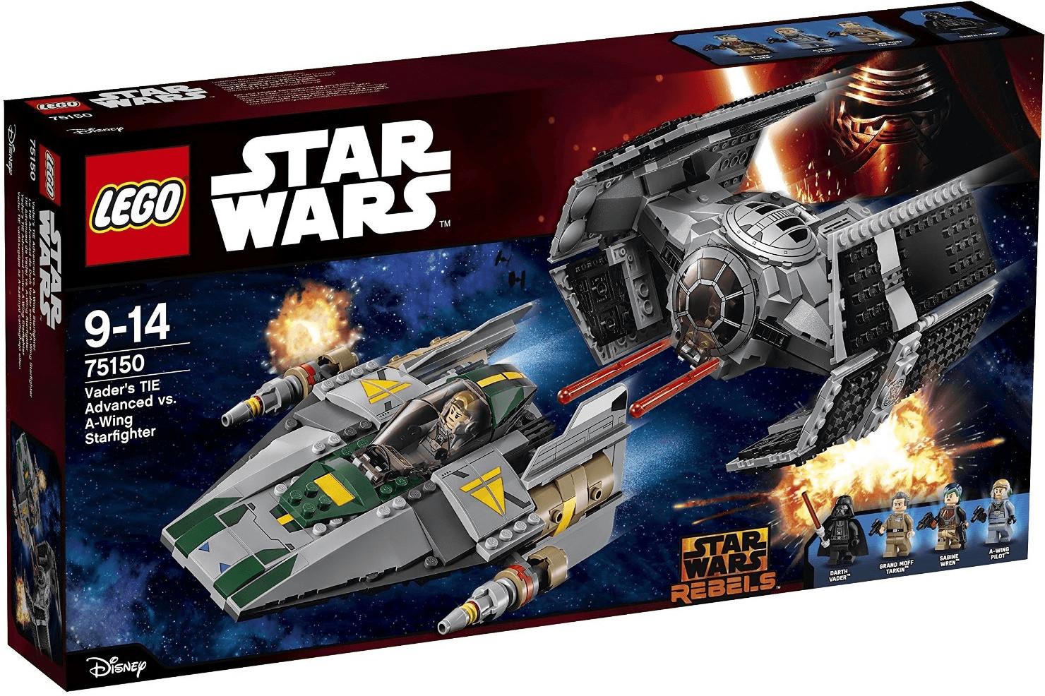 LEGO Star Wars - Le TIE Advanced de Dark Vador contre l'A-Wing Starfighter (75150)
